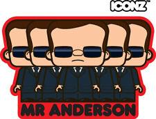 ICONZ CARTOON TEE SHIRT MR ANDERSON THE MATRIX HACKER KEANU REEVES