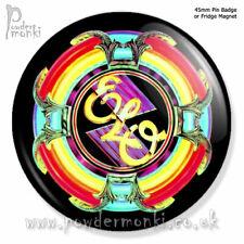 "ELO ""A NEW WORLD RECORD"" ~ Pin Badge OR Fridge Magnet [45mm] Retro Music"