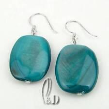 AU SELLER Chic Handmade burnish Aqua Mother of pearls Earrings 030376