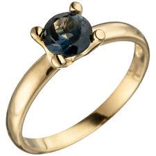 anello donna con Topazio blu blu Blu Di Londra, Oro 585 Giallo Anello topazio