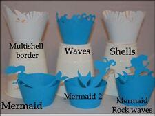 Vestido de Fiesta conchas De Mar Sirena Cupcake Wrappers x12 única manera de exhibir Cupcakes