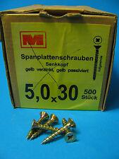 Spanplattenschrauben Mea Kreuz Gelb verz. 3 3,5 4 4,5 5 6 keine Spax Holz
