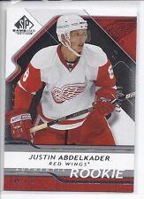 08-09 2008-09 SP GAME USED JUSTIN ABDELKADER ROOKIE /999 134 DETROIT RED WINGS