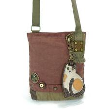 Chala Patch Crossbody Bag with Keyfob, Purse Charm, Mauve