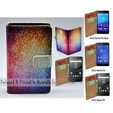 For Xperia XZ Premium - Mosaic Texture Print Flip Wallet Phone Case Cover