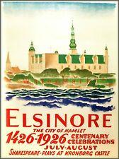 Besuchen Danemark Denmark Europe Travel Tourism Vintage Poster Repro FREE S//H