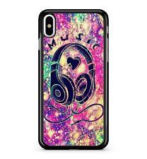 Casque Musique Coloré Scintillant Milkyway Arc-En-Ciel Space 2D Phone Étui Coque