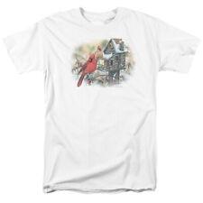 Wildlife Cardinals Rustic Retreat T-shirts for Men Women or Kids