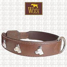 PREMIUM WOZA DOG COLLAR GREAT DANE GENUINE COW FULL LEATHER SOFT NAPA PADDED 277