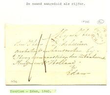 NEDERLAND 1840 BRIEF    HAARLEM- EDAM     ZIE TEKST