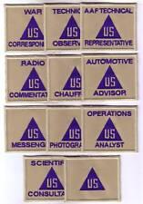 WWII - U.S. CIVILIANS (Set de 11 - Reproductions)