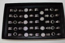 BIGIOTTERIA ANELLO LEGA CON pietre-strass Colore Argento ab TGL 18 molti design