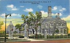 Postcard New York City Us Naval Training School Bronx Student Hall Nr Mint