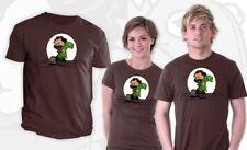 CUTE Calvin Hobbes as Jim Henson and Kermit Puppet Parody Teefury Lady Shirt