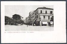 NAPOLI CASTELLAMMARE DI STABIA 18 Cartolina timbrata 1903