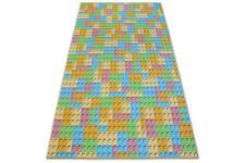 Teppich für Kinder LEGO Breite 100-400 cm Block Blöcke gelb, blau, rosa, grün