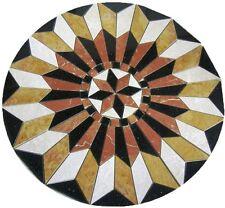 Floor marble medallion Siena tile mosaic 24 compass rose star MedallionUs