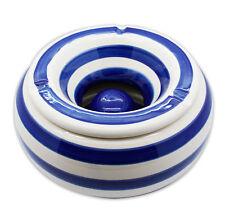 Aschenbecher  Sturmaschenbecher Windaschenbecher Maritim Gastrobedarf blau weiss