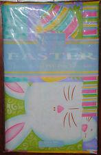 Vinyl Tablecloth~Easter Bunny~Yellow Peep~Egg~Flower~Pink~Purple~Green~52/70~NEW