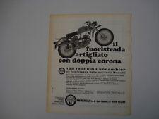 advertising Pubblicità 1969 MOTO BENELLI 125 LEONCINO SCRAMBLER