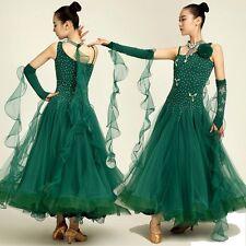 Luxurious Adult Dancewear Modern Dance Maxi Dress Waltz Tango Fox Trot Ballroom