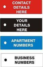 Acrylic Engraved Key Ring Fob Tag Hotel Flat Apartment House B&B Business
