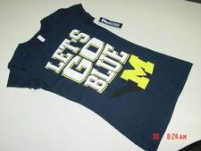 NWT Junior Girls U of M Michigan Wolverines T Shirt Let's Go Blue Sport Football