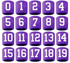 #0-19 Number Sweatband Wristband Lacrosse Softball Volleyball Purple White