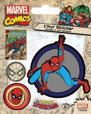 Marvel Comics Spiderman Retro Vinilo Sticker Peter Benjamin Parker Venom Stan Lee