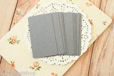 Dark GREY blank Business Cards 50pc handmade wedding DIY save the date name card