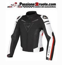 Giacca Giubbotto moto Dainese Super Speed Tex nero bianco rosso
