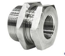 Stainless Steel BSP Female Bulkhead Fitting Full Range Sizes with Fixing Nut