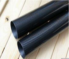 35mm x 25mm x 32mm 33mm x 1000mm 3K Roll Wrapped Carbon Fiber Tube /Tubing -2