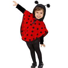 Kinder Marienkäfer Kostüm Marienkäferkostüm Cape Kapuzenponcho Kapuzencape Käfer