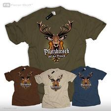 Jäger T-Shirt Platzhirsch auf der Pirsch Jagd Fun Revier Hirsch Geschenk Wild