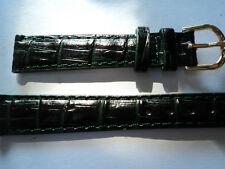 BRACELET MONTRE CUIR ÉTANCHE WATERPROOF VERT 14mm RÉSISTE A L'EAU   REF; 5622