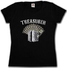 Treasurer Patch malvagia Shirt-Live to ride biker SAMCRO Rocker Club soa Girl 1%