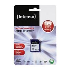 Intenso Blau SDHC 16 GB Class 10 Full HD Premium Speicherkarte Highspeed Ultra