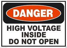 Danger High Voltage Inside OSHA Safety Sign Decal Sticker Label D279