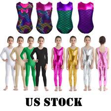 US Girl Ballet Dance Leotard Gymnastics Full Bodysuit Jumpsuit Dancewear Costume