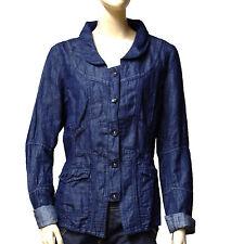 LOLA ESPELETA veste jeans ( lin mélangé ) bleu indigo femme taille 4