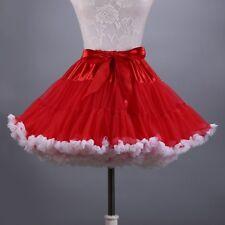 Women Petticoat Crinoline Underskirt Tutu Rockabilly Bubble Skirt Dance Wear Red