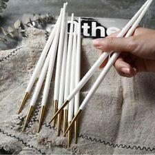 Home Kitchen Chopsticks Reusable Stainless Food Stick Cutlery Utensils 5/8 Pairs