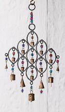 Namaste fair Trade Hierro indio Windchime Con cuentas & cobre campanas Carillón de viento