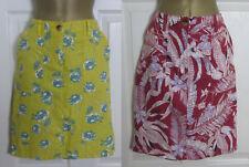 NEW Next Linen Blend Yellow Berry Floral Summer Holiday Sun Skirt Casual 6-18