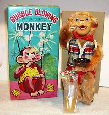 Bubble Blowing Monkey © 1950s Alps NOS