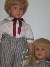 Ricky pictured on left Ruth Treffeisen doll