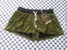 Short Donna F**K Fuck -- Verde Militare Pizzo -- 660