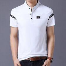 Men's T Shirt 2018 Short Sleeve Mandarin Collar T-Shirt Tops & Tees Male Tshirts