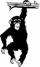 Chimp Monkey Chimpanzee Ape Animal Wall Decor Mural Vinyl Decal